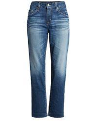 AG Jeans - The Ex Boyfriend Crop Jeans - Lyst
