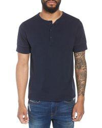 FRAME - Slim Fit Henley T-shirt - Lyst