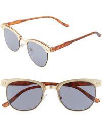 BP. Perfect 53mm Cat Eye Sunglasses - Teal/ Black in Black