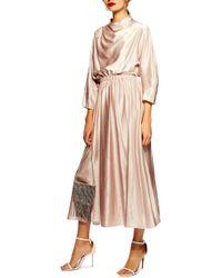 TOPSHOP - Satin Maxi Dress - Lyst