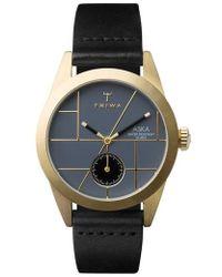 Triwa - Blues Aska Leather Strap Watch - Lyst