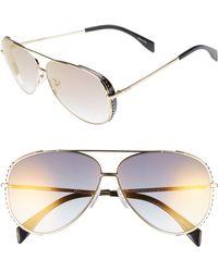 Moschino - 61mm Metal Aviator Sunglasses - Lyst