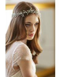 Brides & Hairpins   Bianca Crystal Halo & Sash   Lyst