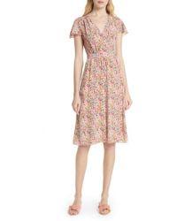 Rebecca Taylor - Margo Faux Wrap Silk Dress - Lyst