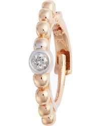 Kismet by Milka - Diamond Bezel Beaded Hoop Earrings - Lyst