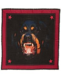 Givenchy - Rottweiler Wool & Silk Square Scarf - Lyst