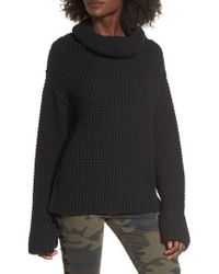 Love By Design - Cowl Neck Thermal Stitch Sweater - Lyst