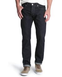 Wrangler - Spencer Selvedge Slim Straight Leg Jeans - Lyst