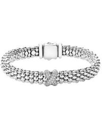 Lagos - Diamond Lux Single Station X Bracelet - Lyst