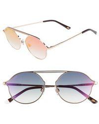 da81d184d0be Lyst - Bvlgari Embellished Oversize Sunglasses Bronze in Metallic