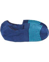 Pantherella Stripe No-show Socks - Blue