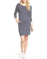 Barbour - Wharf Stripe Jersey Dress - Lyst