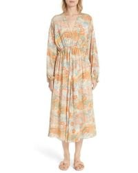 Norma Printed Silk Maxi Dress - Marigold Elizabeth & James Very Cheap Free Shipping Low Cost Limited Edition Cheap Online Buy Online Outlet Sale Best Prices r8kuY