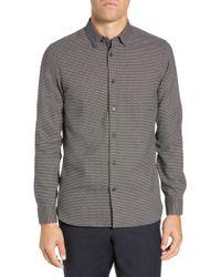 85593af79c330 Lyst - Ted Baker  kaylen  Trim Fit Dot Dress Shirt in Gray for Men