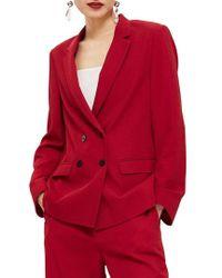 TOPSHOP - Slouch Suit Blazer - Lyst