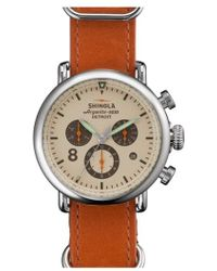 Shinola - 'the Runwell Contrast Chrono' Leather Strap Watch - Lyst