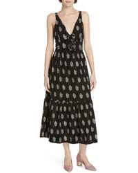 067539e3b0f Lyst - La Vie Rebecca Taylor Indienne Print Midi Dress in Blue