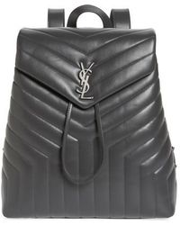 Saint Laurent - Medium Loulou Calfskin Leather Backpack - - Lyst