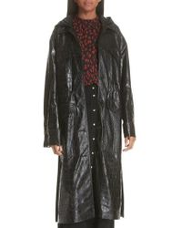Nanushka - Gus Faux Crocodile Trench Coat - Lyst