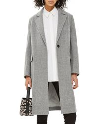 TOPSHOP - Lily Knit Back Midi Coat - Lyst