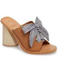 Amber Tie Front Block Heel Sandals P6pEiP