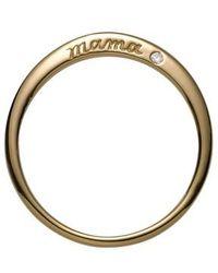 Nora Kogan - Mama Ring With Diamond - Lyst