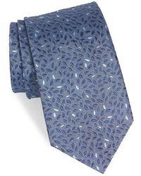 John Varvatos - Leaves Silk Tie - Lyst