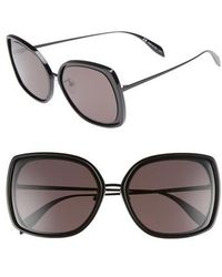 Alexander McQueen - 57mm Square Sunglasses - Lyst
