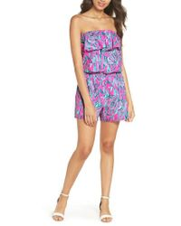 Lilly Pulitzer - Lilly Pulitzer Anja Sleeveless Romper - Lyst
