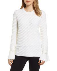 Karl Lagerfeld - Karl Lagerfield Paris Embellished Sleeve Sweater - Lyst
