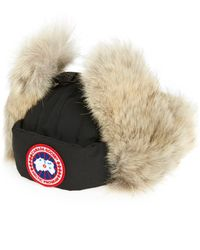Canada Goose - Down Fill Aviator Hat With Genuine Coyote Fur Trim - Lyst