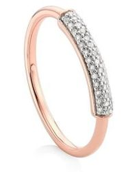 Monica Vinader - 'stellar' Diamond Band Ring - Lyst