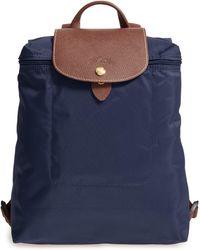 Longchamp Le Pliage Folding Backpack - Blue