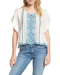 Ella Moss | Embroidered Top | Lyst
