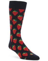Happy Socks - Strawberry Socks - Lyst