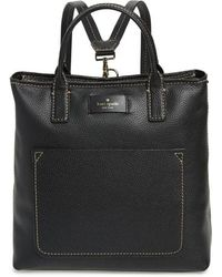 Kate Spade - Maple Street - Kenzie Leather Convertible Backpack - Lyst