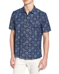 French Connection - Franju Floral Slim Fit Woven Shirt - Lyst
