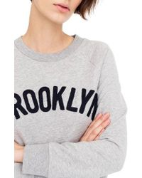 J.Crew - Brooklyn Sweatshirt - Lyst