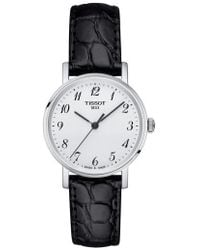 Tissot - Everytime Leather Strap Watch - Lyst