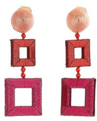 Oscar de la Renta - Wrapped Double Drop Earrings - Lyst