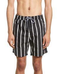 Zanerobe - Pinstripe Laguna Hybrid Swim Shorts - Lyst