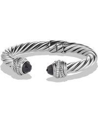 David Yurman - 'cable Classics' Bracelet With Semiprecious Stones & Diamonds - Lyst