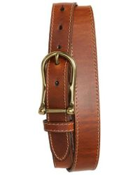 Torino Leather Company - Waxed Leather Belt - Lyst