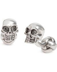 Alexander McQueen - 3d Embellished Skull Cuff Links - Lyst