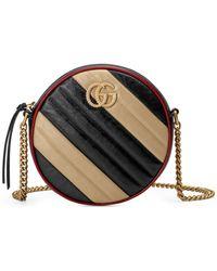 8110f3326bd517 Gucci - Mini Gg Marmont 2.0 Matelassé Leather Shoulder Bag - - Lyst