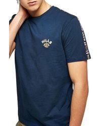 TOPMAN - Hills Tape T-shirt - Lyst