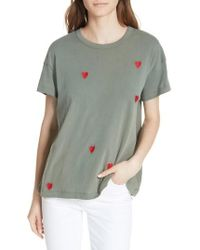 The Great - The Embroidered Boxy Crew Tee - Lyst