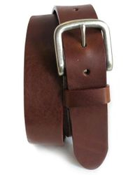 Boconi - 'bastian' Bison Leather Belt - Lyst