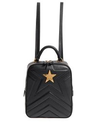 Stella McCartney - Small Quilted Faux Leather Convertible Backpack - Lyst