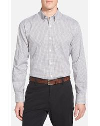Cutter & Buck - 'epic Easy Care' Classic Fit Wrinkle Free Tattersall Plaid Sport Shirt - Lyst